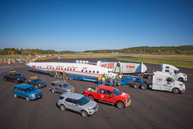 """TWA Hotel's 1958 Lockheed Constellation """"Connie"""" Airplane is Heading From Maine to JFK Airport"""