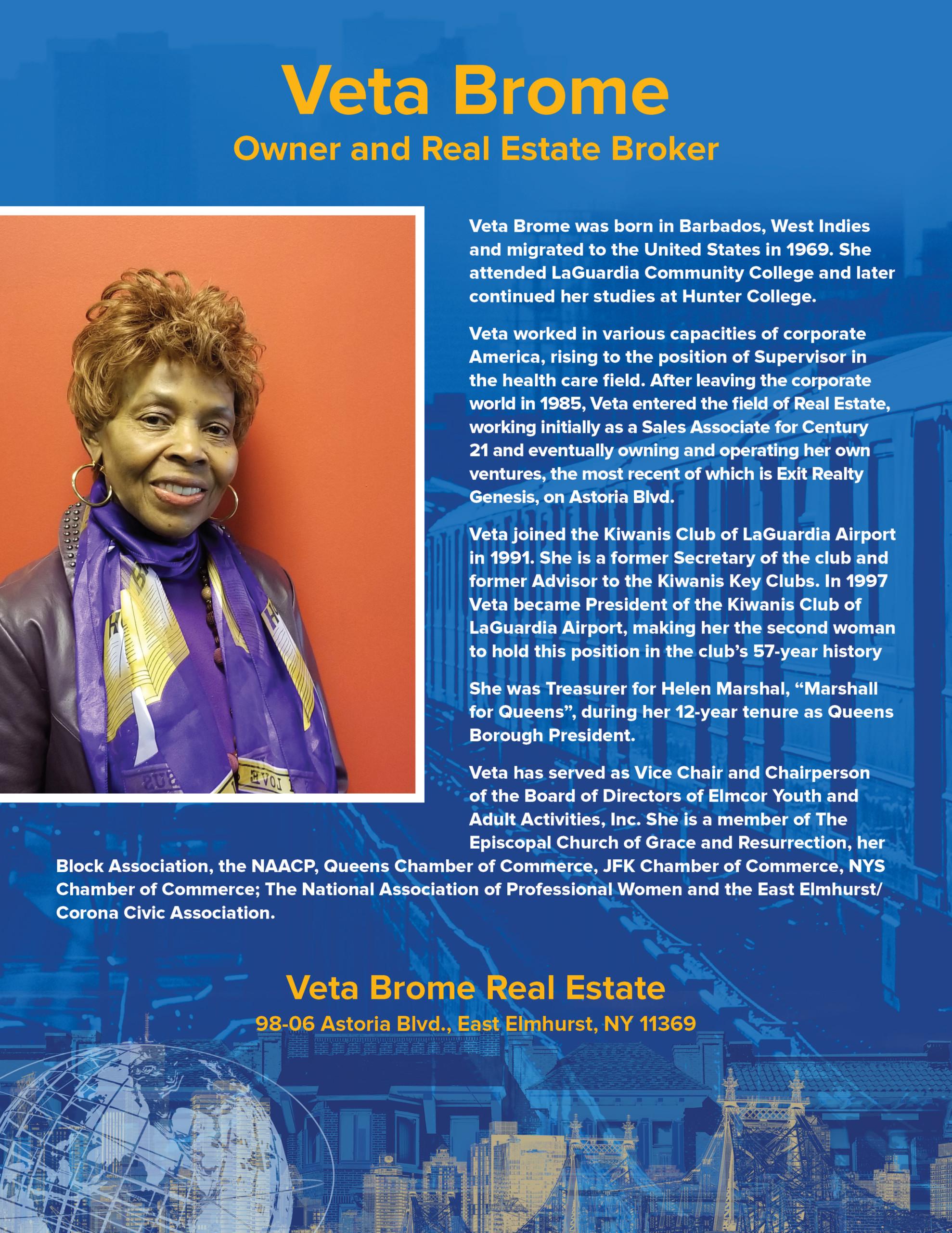 Veta Brome, Owner of Veta Brome Real Estate
