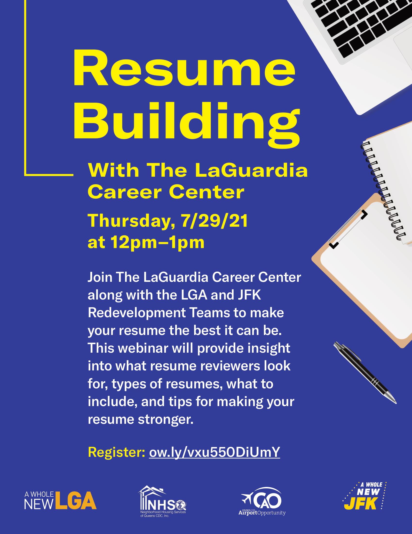 Resume Building Webinar