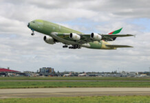 The moment has finally come, as the last-ever produced Airbus A380 aircraft departed for its first test flight.