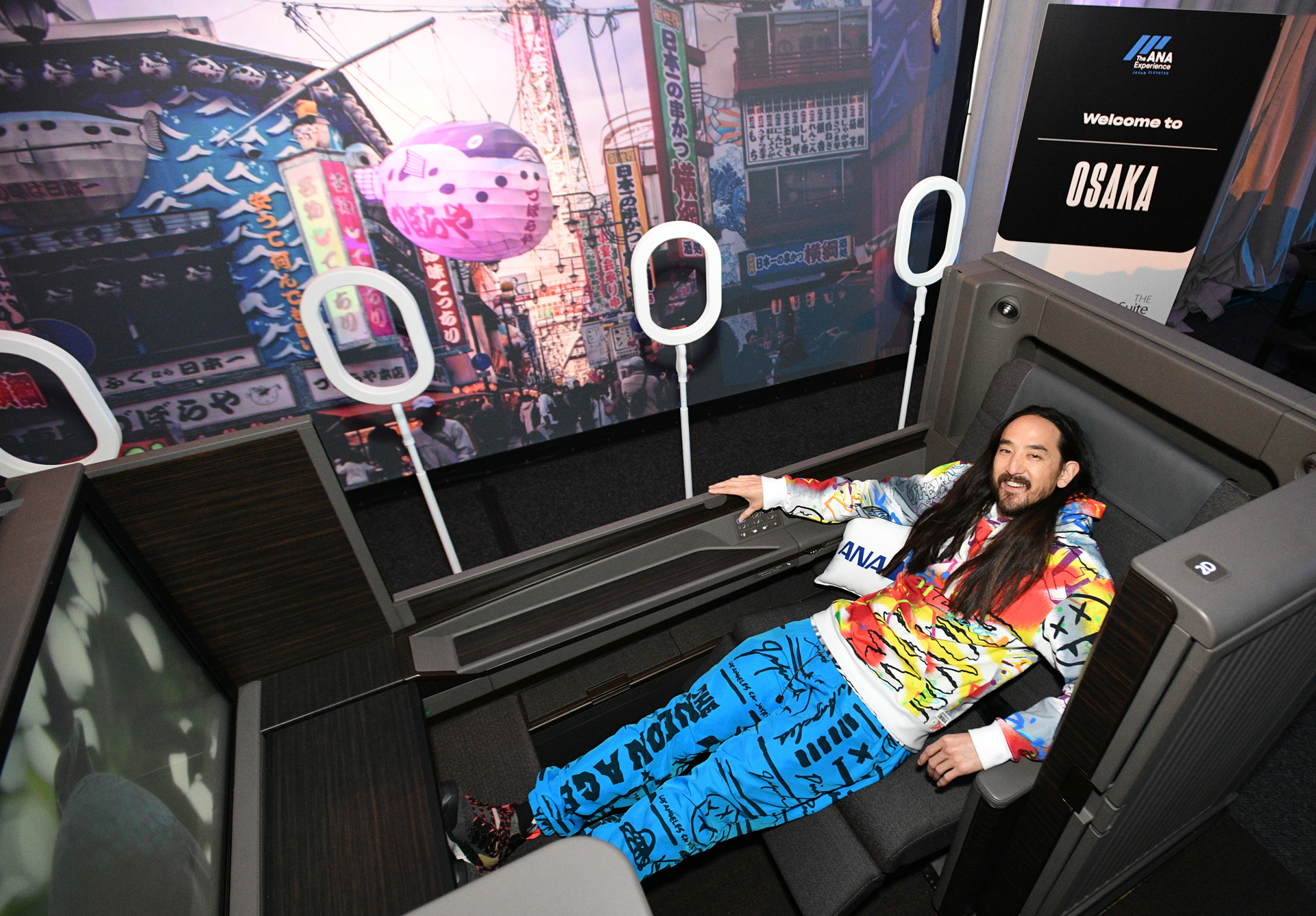 Ana And Steve Aoki Launch Of New First And Business Class Suites