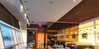 American Airlines newly-renovated Flagship Lounge and brand new Flagship First Dining at New York John F. Kennedy International Airport.