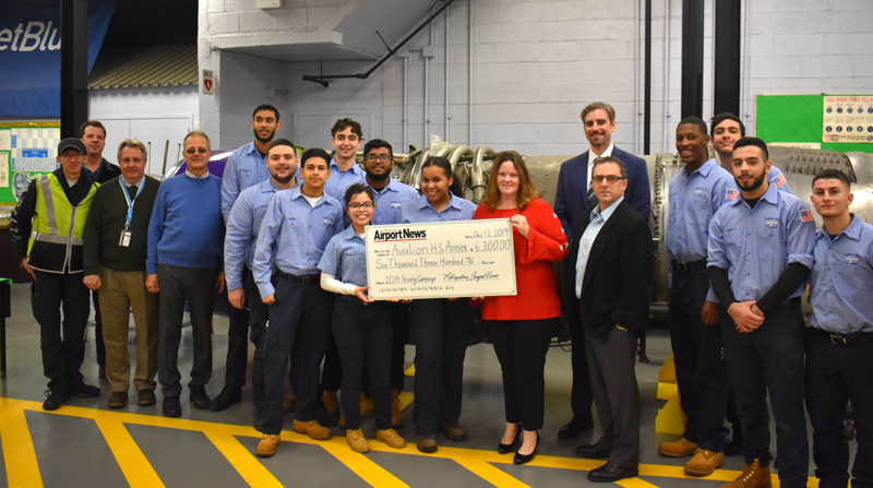 Metropolitan Airport News has raised $6,300 for the Aviation High School Annex 5th Year Program through our annual December Charitable Giving Campaign.