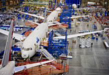 Boeing's Renton plant in Seattle area during busier times