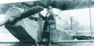 Bessie Coleman, Curtiss Field, L.I. 1922