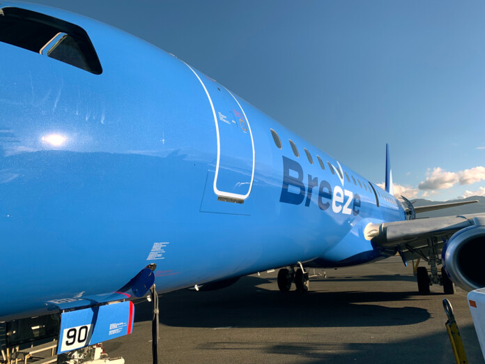 Breeze Airways Takes Delivery of First of 15 Embraer E190 Aircraft