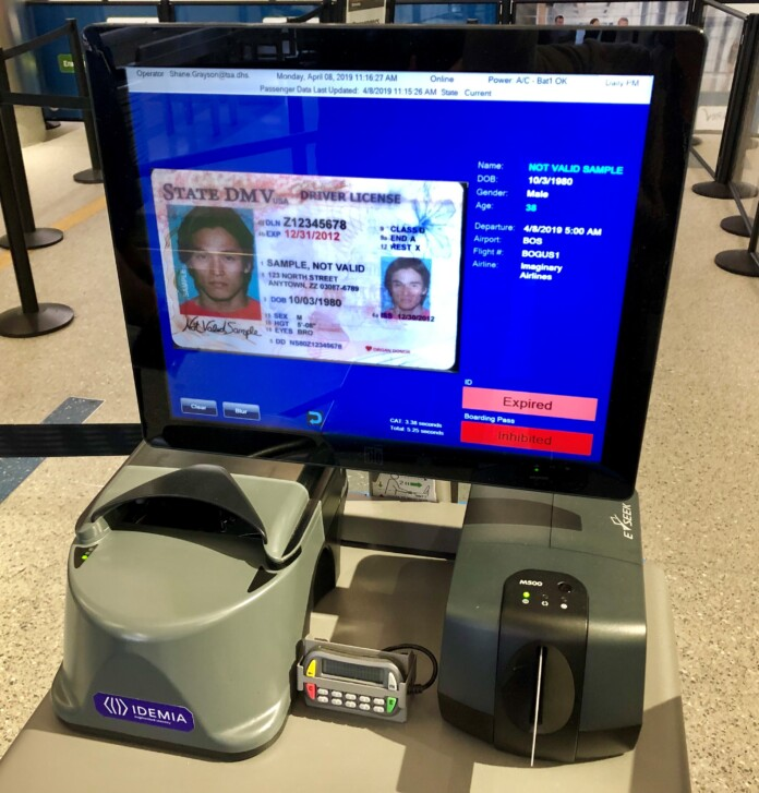 CAT screen with passport