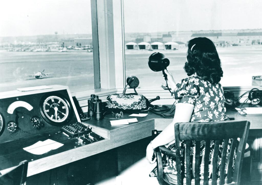 Dorothy Kienzle, Air Traffic Control, Republic Aviation 1945.
