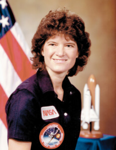 Dr. Sally K. Ride became the first American woman in space in 1983.