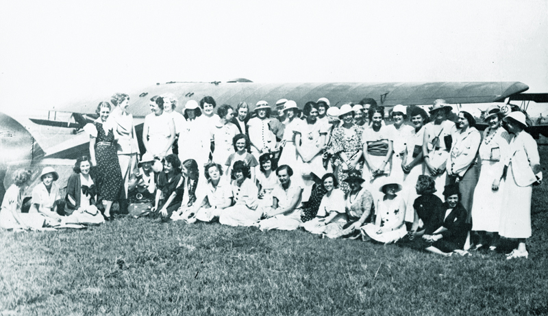 Early group of Ninety-Nines, Roosevelt Field, L.I. c.1930
