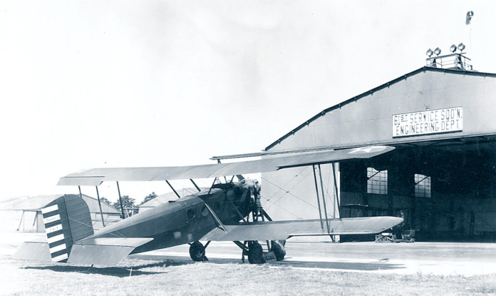Aircraft Inspection 1927 Engineering Dept Hangar