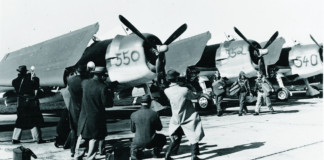 Grumman F6F flightline Hooker, Kenyon, and Kibbee, Bethpage, NY