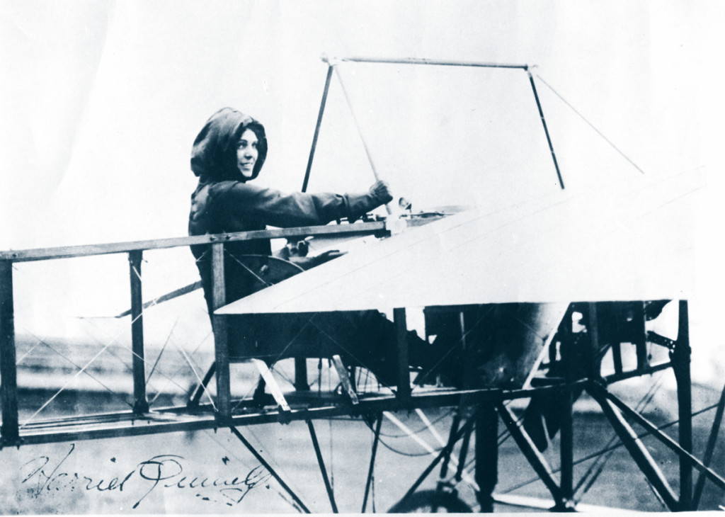 Harriet Quimby in Moisant-monoplane