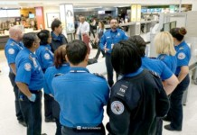 Harvey-TSST team from LGA gets briefed in Houston