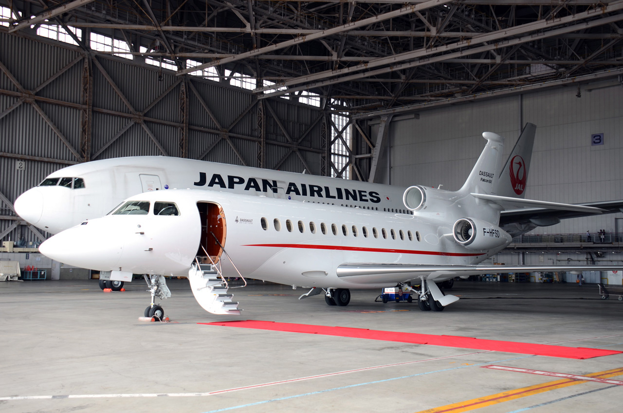 Japan Airlines And Dassault Falcon Service To Offer Private Jet Service  Met