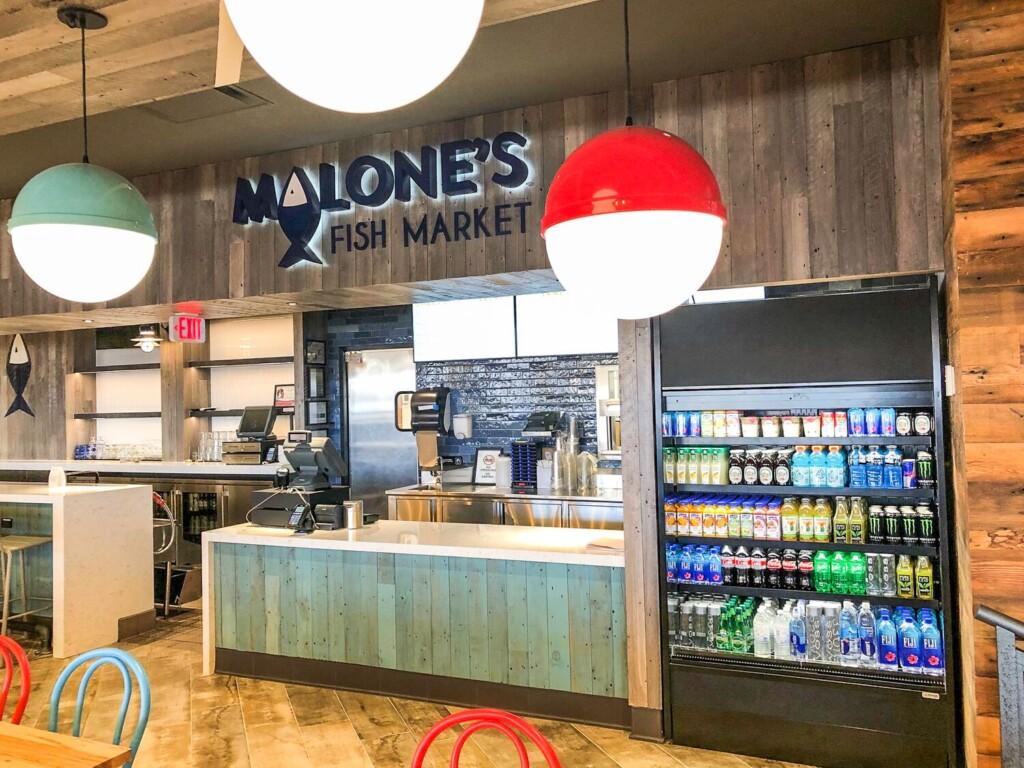 Malone's Fish MarketTerminal-B at Newark Liberty International Airport.