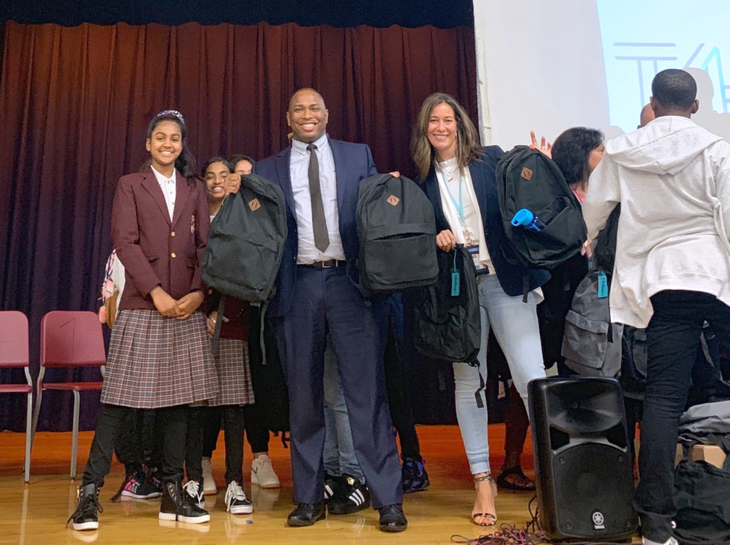 JFK Airport's Terminal 4 Operator Donates 400 Backpacks and School Supplies to Local Queens Middle School 1
