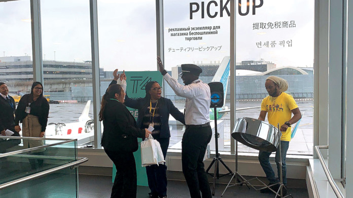 JFK Airport's Terminal 4 Celebrates Carnival With Customers