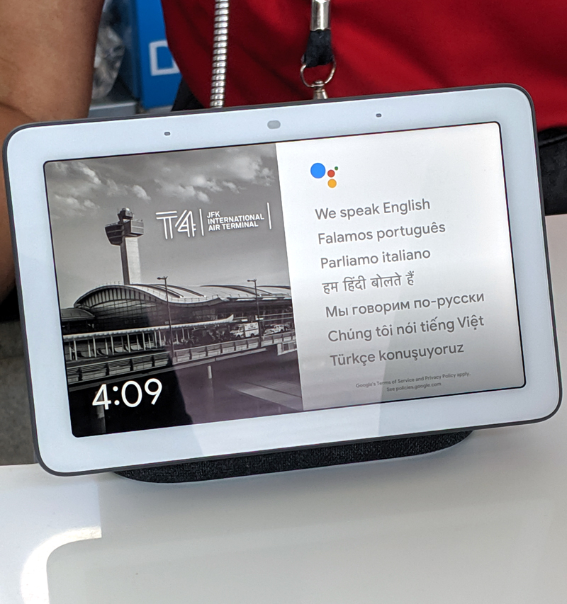 JFKIAT partners with Google to bring real-time language translation to international travelers with the Google Assistant's interpreter mode on Google Nest Hubs