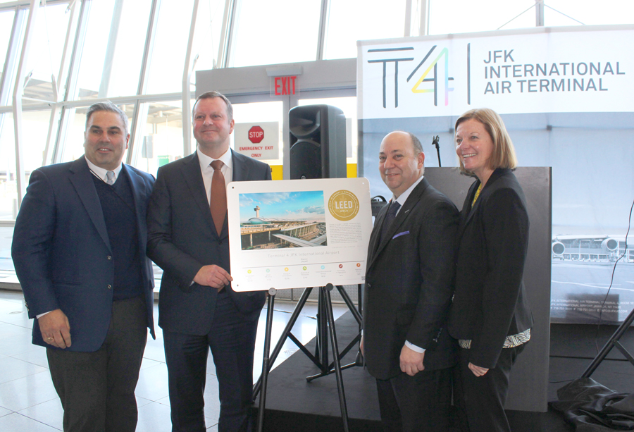 Jfk Airports Terminal 4 Awarded Leed Gold Certification
