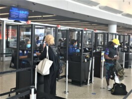 TSA is installing acrylic barriers at John F. Kennedy International Airport to help protect passengers and workforce from coronavirus