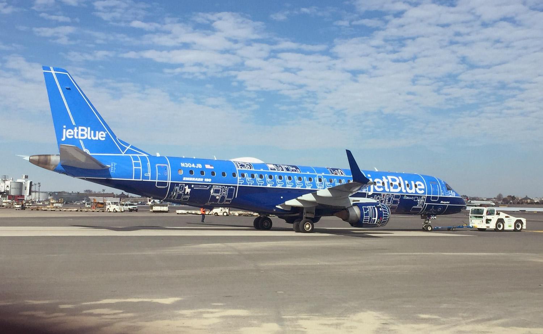 'Blueprint' Becomes Airline's First Embraer 190 to Feature a Unique Paint Scheme