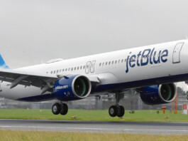 JetBlue London Heathrow Arrival Landing