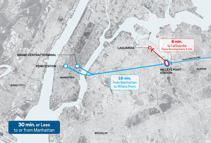 Laguardia Subway Map.Governor Cuomo Signs Legislation Advancing Laguardia Airtrain Project