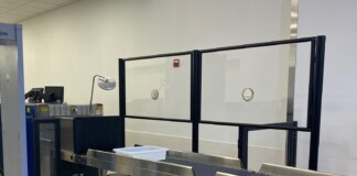 TSA is installing acrylic barriers at LaGuardia Airport to help protect passengers and workforce from coronavirus