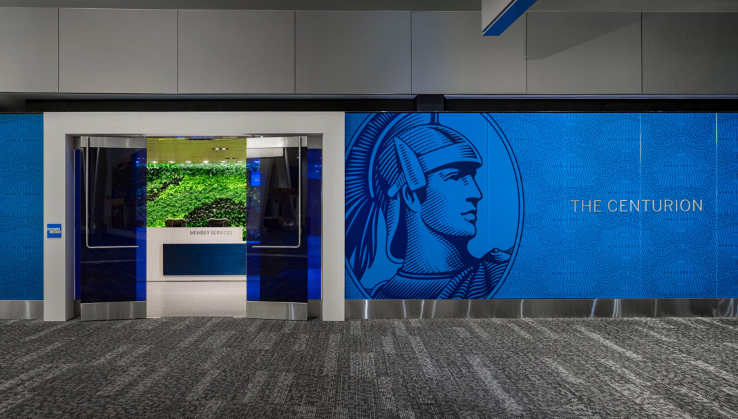 Entryway to The Centurion Lounge at LaGuardia Airport