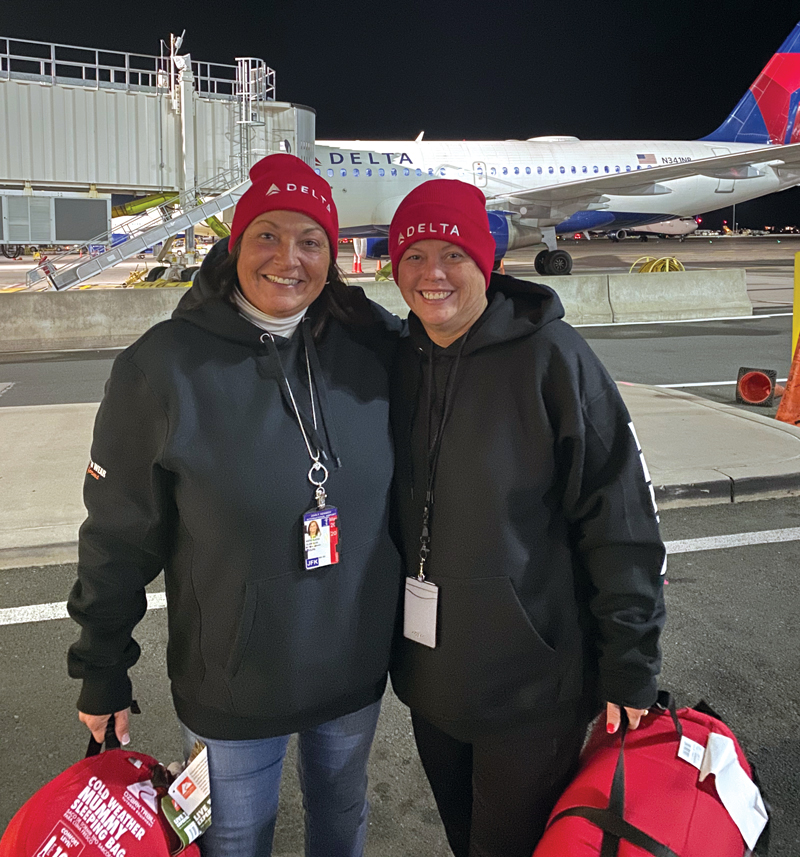 Delta Air Lines at JFK Participates in the Annual Sleep Out America Event