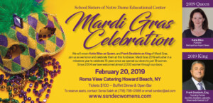School Sisters of Notre Dame Mardi Gras Celebration 2019
