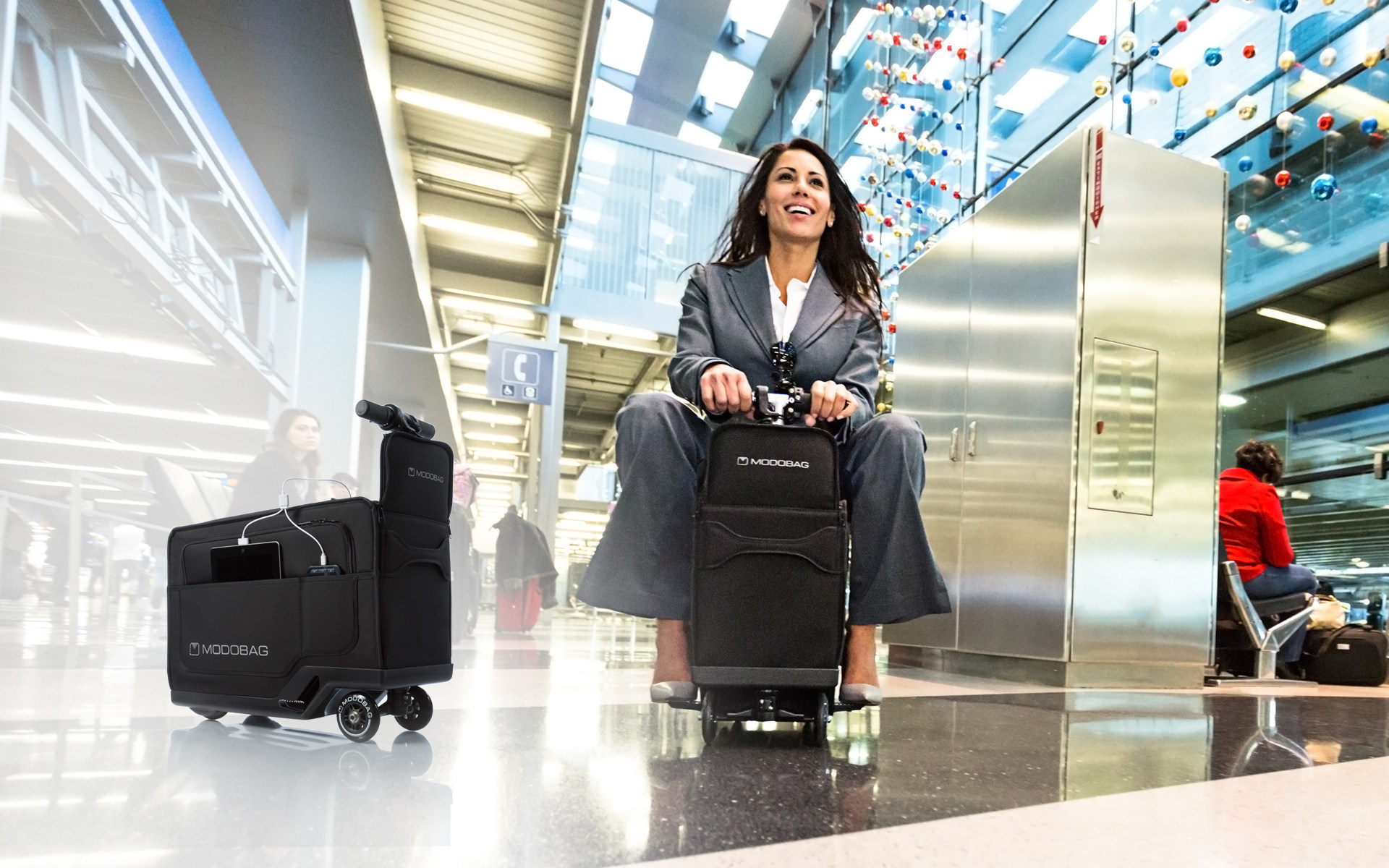 Modobag Introduces World S First Rideable Motorized Carry On Suitcase That Gets The Go Travelers Students And Busy Professionals To Their Destination