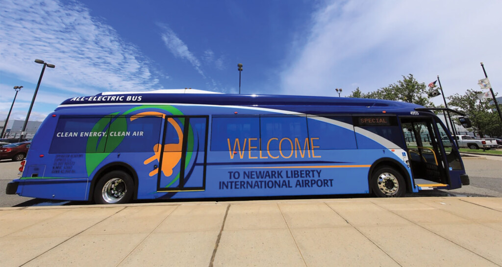 Newark Airport Electric Bus