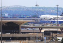 Newark Airport Landing