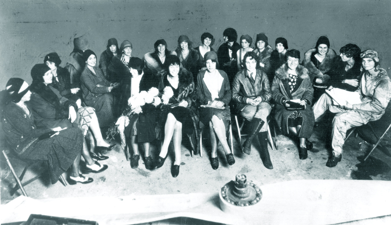 Ninety-Nines Organization of Women Pilots, first meeting, 11-02-1929 Curtiss Field, Valley Stream, L.I.