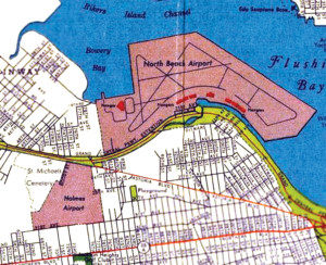 North Beach Airport NY Map