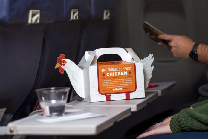 "POPEYES Launches ""Emotional Support Chicken"" to Provide A Little Humor to Help Ease the Stress of Holiday Travel"