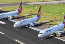 QANTAS PARKS SURPLUS AIRCRAFT