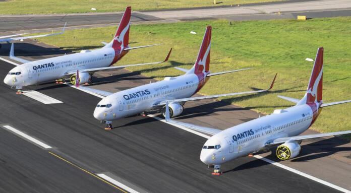 QANTAS PARKS SURPLUS AIRCRAFT