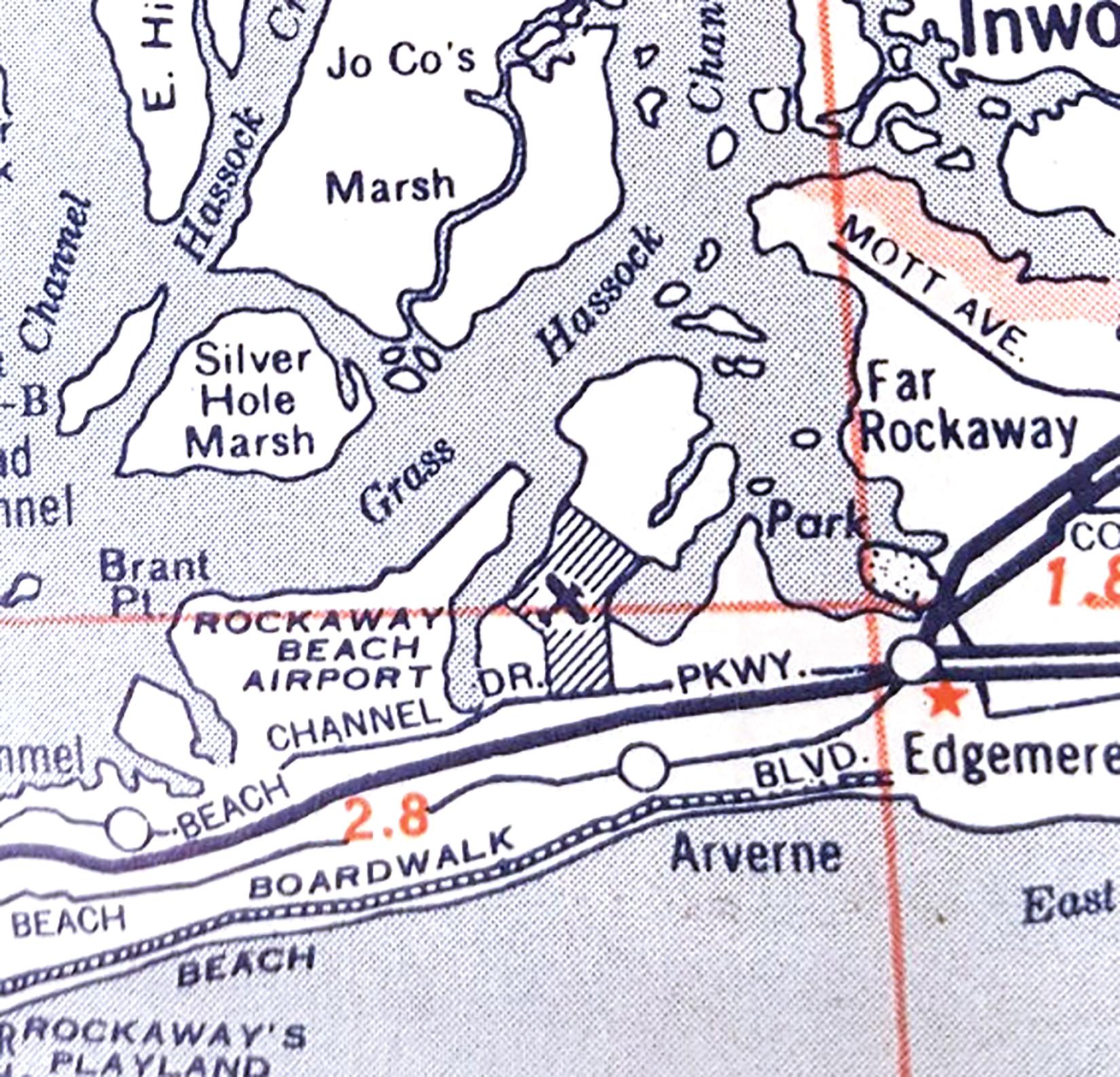 Rockaway Airport-New York-Map