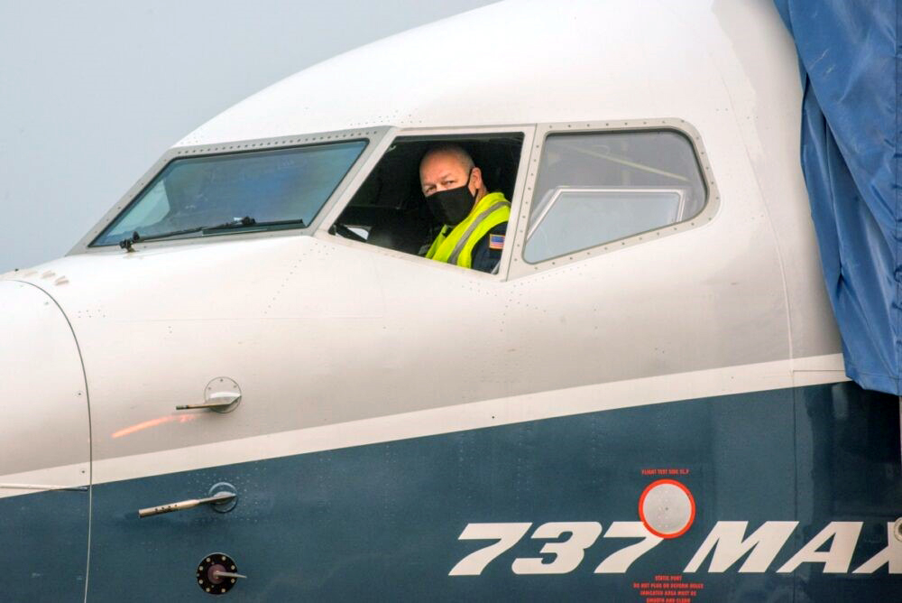 FAA head, Steve Dickson, took to the controls of the 737 Max during testing on a two- hour flight.