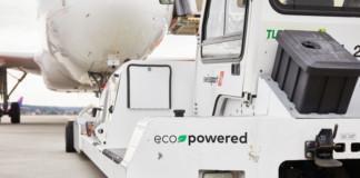 Swissport ecopowered aircraft tug