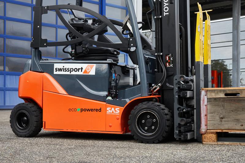 Swissport ecopowered forklift