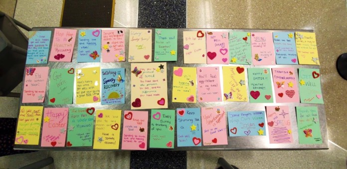 TSA officers at Newark Airport crafted get well cards for COVID-19 patients in isolation at a local New Jersey hospital