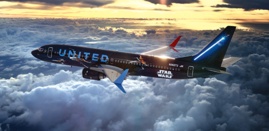 United Debuts Star Wars Themed Airplane