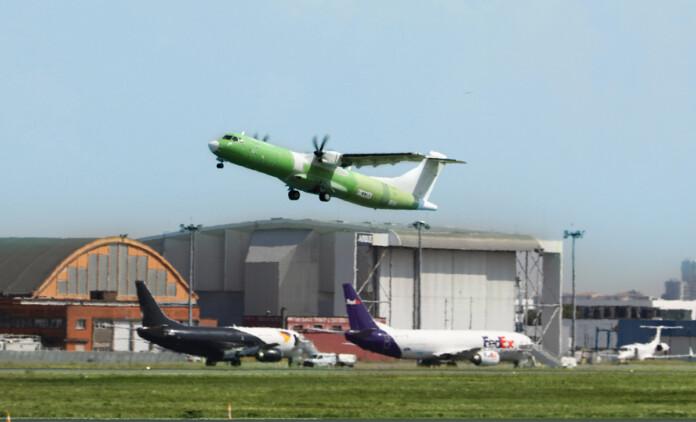ATR 72-600 freighter first test flight on Sept. 16. (Source: ATR)
