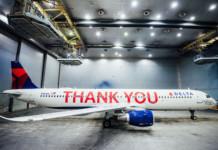 Delta Thank You Plane