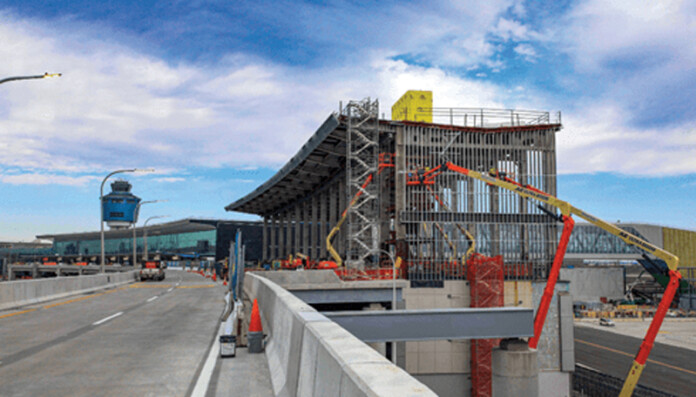 Central Hall under construction at LaGuardia Airport