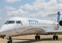 United Airlines CRJ550 New York to DC
